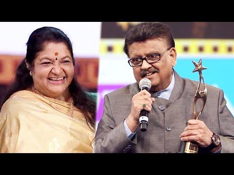 S. P. Balasubrahmanyam Expressing His Love Towards K. S. Chithra After Receiving Her Award