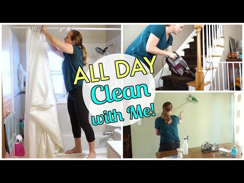 ALL DAY CLEAN WITH ME!  SPEED CLEANING MOTIVATI  Mommy Etc