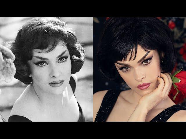 The Gina Beat - Make-up + Hair inspired by Gina Lollobrigida