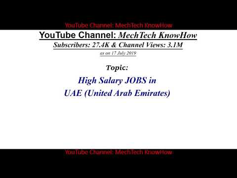 High Salary Jobs In UAE, High Salary Dubai, Salary Of Aerospace & Telecom Engineer, Design Architect