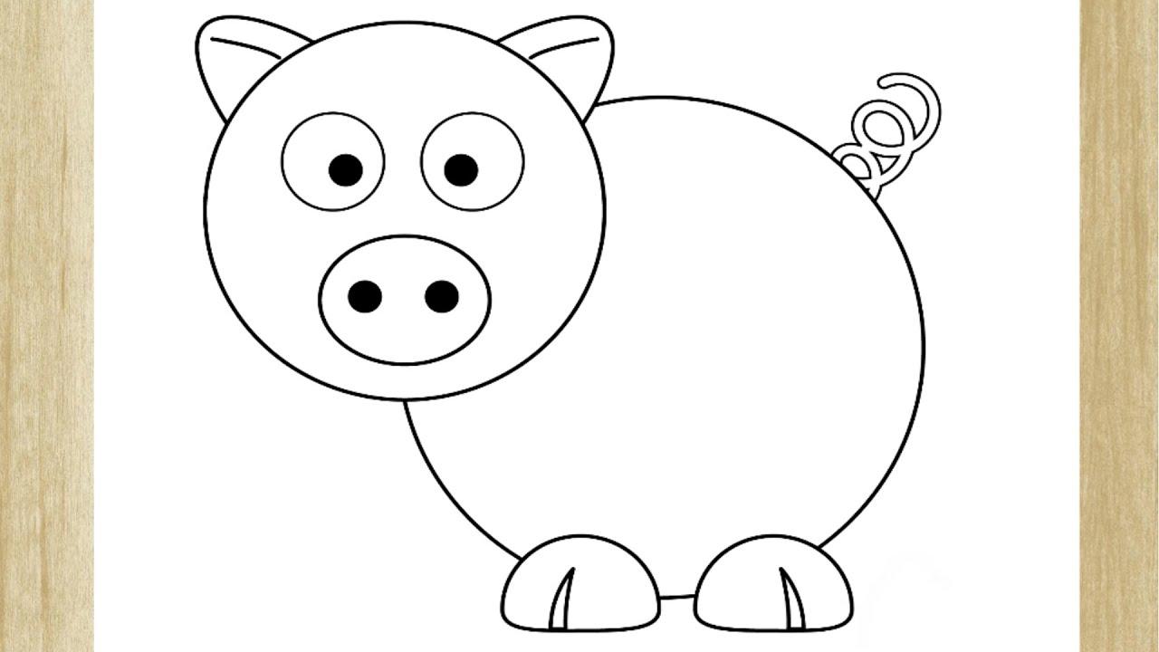 como desenhar um porquinho fÁcil how to draw pig easy youtube