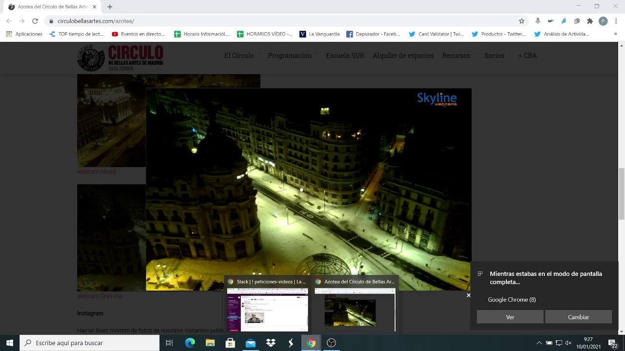 DIRECTO: La espectacular nevada desde la Gran Vía de Madrid - YouTube