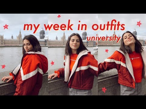 [VIDEO] - MY WEEK IN OUTFITS: university 9