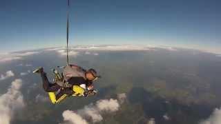 Saut en parachute tandem Dominique 15/06/2014 à Spa (Skydive Spa)