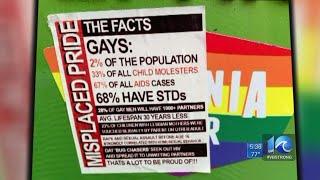 Homophobic bumper sticker placed on top of Norfolk woman's pride bumper sticker