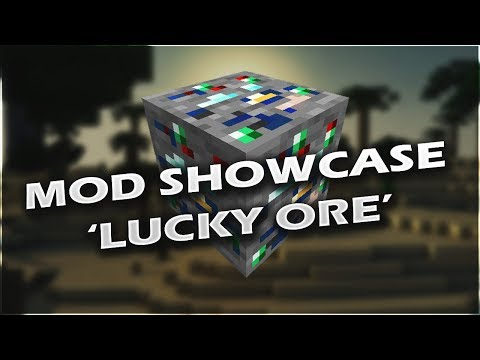 Minecraft: LUCKY ORES! (New items and ores) MOD SHOWCASE 1.14