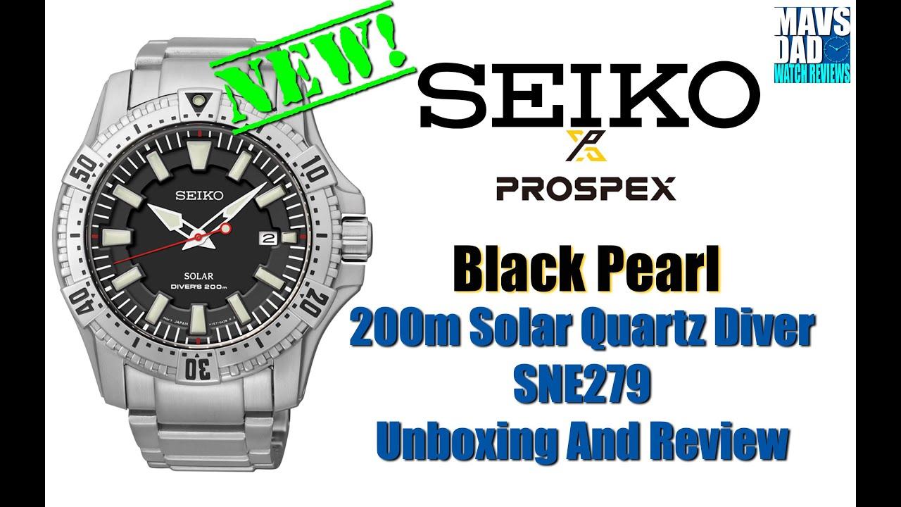 Interesting   Seiko Prospex Black Pearl 200m Solar Quartz Diver SNE279  Unbox & Review