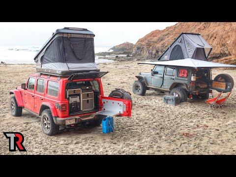Beach Camping in Baja California, Mexico
