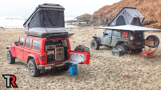 Beach Camping in Baja California, Mexico