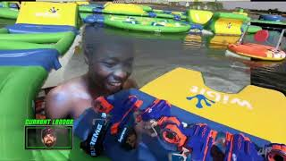 Dude Perfect | Nerf Blasters Floating Island Battle | Reaction