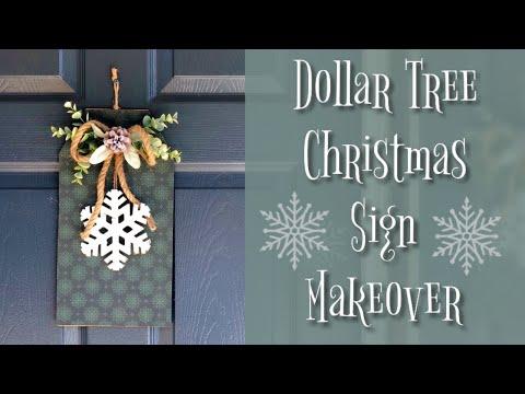 Dollar Tree Christmas DIY   Sign Transformation #2   Christmas DIY