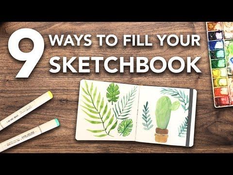 9 Ways to FILL Your SKETCHBOOK this Summer!