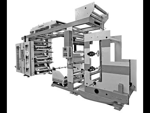 FLEXOGRAPHIC PRINTING MACHINE WITH GAZZETING ATTACHMENT | NON-WOVEN PRINTING | PAPER PRINTING