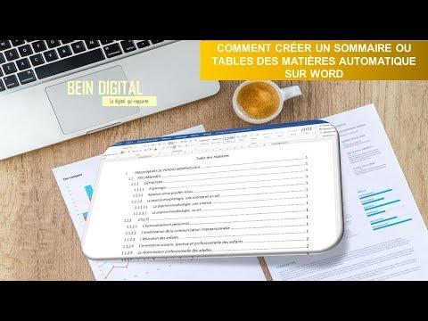 Word Comment créer un sommaire ou table des matières automatique thumbnail
