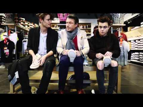 Hardy Krüger Jr. mit Sohn Noah & Simon Lohmeyer beim Schuh-Shopping