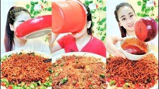 Eating show china chili | Eat a lot of chili pasta