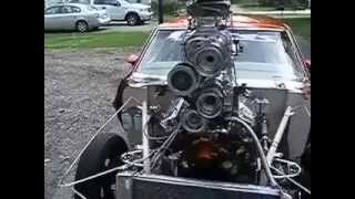 1970 Pontiac GTO With A Supercharger On Top Of A Supercharger