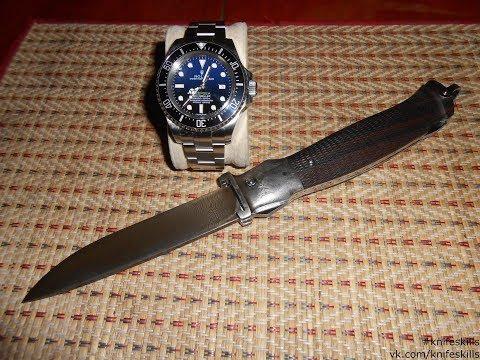 Нож охотничий в дамаске с экстракторами 12 и 16 кл (с мозаичным дамаском).
