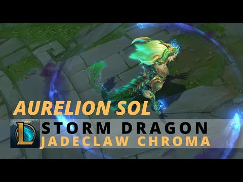 Storm Dragon Aurelion Sol Jadeclaw Chroma - League Of Legends.mp4