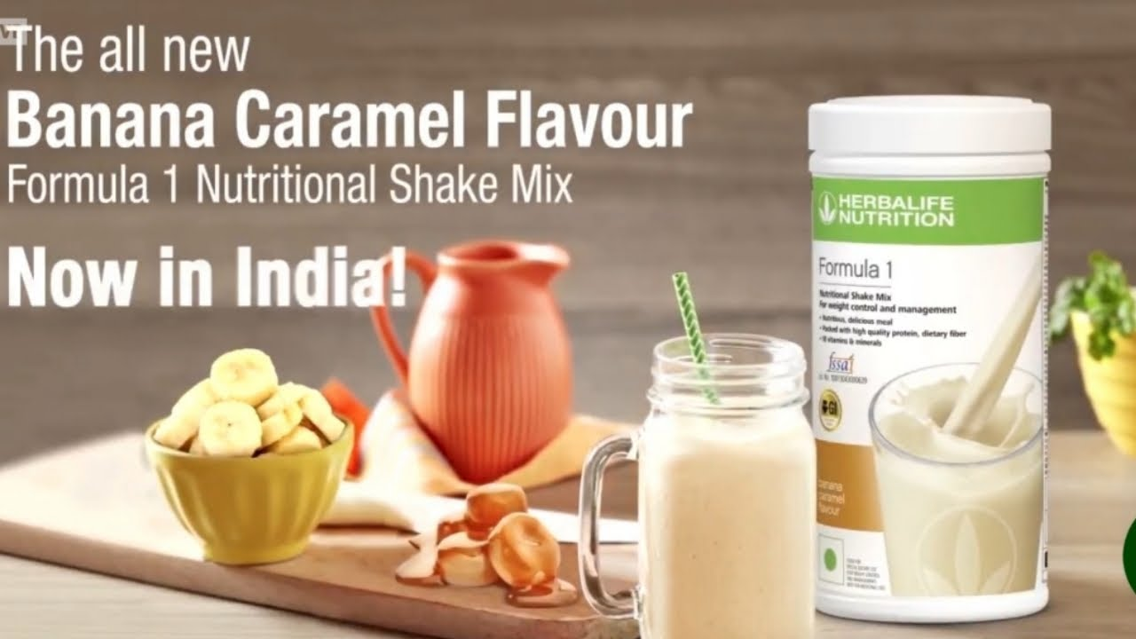 Herbalife Nutrition Formula 1 Nutritional Shake Mix   Banana Caramel Flavour Now in India!!!
