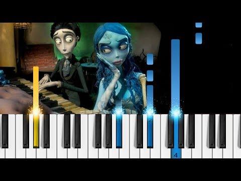 """The Piano Duet"" - Tim Burton's Corpse Bride - Piano Tutorial"