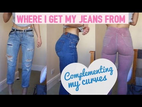 WHERE I GET MY JEANS FROM | TRY ON! | Complementing my curves