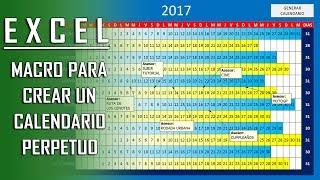 INGENIOSO CALENDARIO PERPETUO en Excel mediante una macro  Tutorial  asesorjuanmanuel