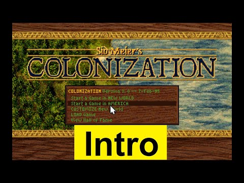 Colonization (Sid Meier's Colonization) 1994 INTRO - Początek Gry / classic game / retro gra klasyka |