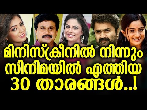30 Malayalam Movie Actors From Television Programs and Serials
