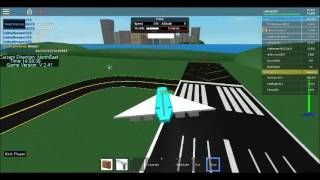 Maiden Journey of the Concorde Dynamic flight simulator Roblox by Cobra33567