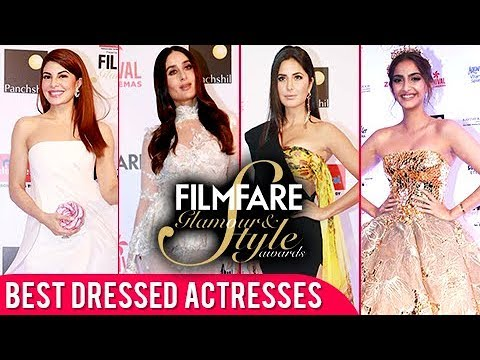 Best Dressed Actresses At Filmfare Glamour & Style Awards 2017 | Deepika, Katrina, Sonam, Jacqueline
