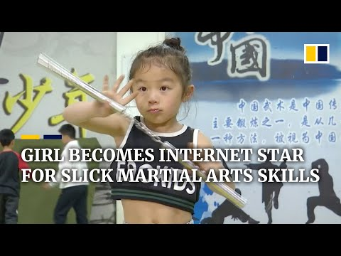 Chinese girl becomes internet star for her martial arts skills