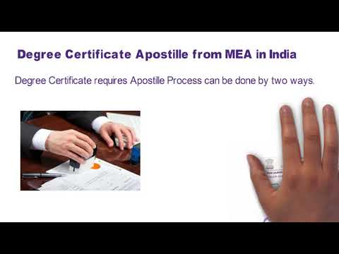 degree certificate apostille in mea | attestation from Ministry of External Affairs