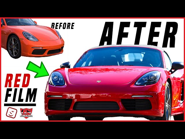 The first Red Paint Protection Film Full Car Wrap