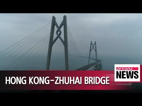 China opens world's longest sea crossing bridge connecting Hong Kong to mainland