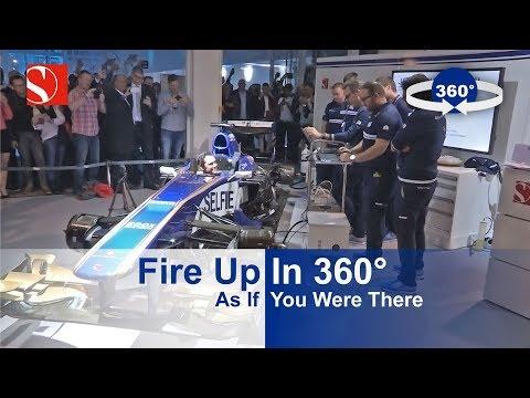 Fire Up In 360° - Sauber F1 Team @ Auto Zürich Car Show 2017