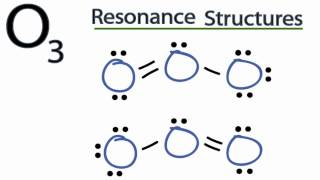 There are two resonance structures for O3 (ozone). - Resonance stru...