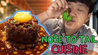 Eating WHOLE Animal! NOSE to TAIL Feast in Singapore