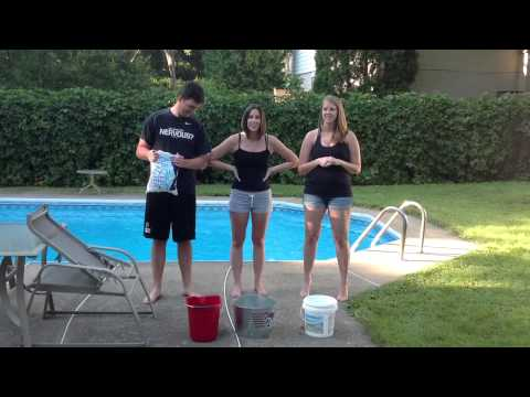 #ALS ice bucket challenge Michael, Tiffany and Tanya 240820