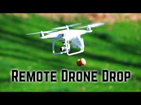 Drone remote cargo release - FLiFLi Airdrop for DJI Phantom 4