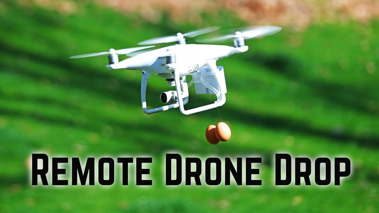 Phantom 4 Pro Drone >> Drone remote cargo release - FLiFLi Airdrop for DJI Phantom 4 - YouTube