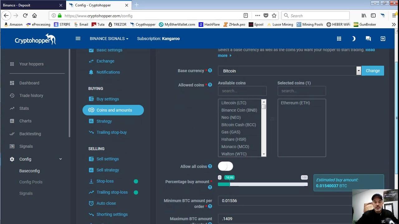 Setting Up Cryptohopper To Trade Crypto On Binance Exchange