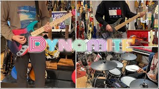Dynamite (다이너마이트) - BTS (방탄소년단) cover by MUSIC LAND KEY STAFF Guitar Bass Drums