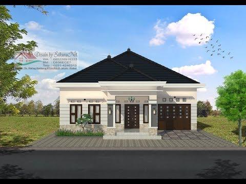 Modern House 12 X16 5 4 K Tidur Desain Rumah Minimalis Lantai 1