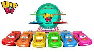 Colors for Children McQueen Garage Cars For Kids ألوان للأطفال لتعلم فيديو للأطفال ألعاب أطفال