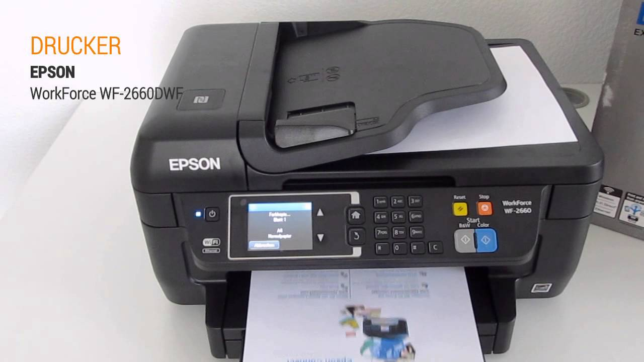 Epson WorkForce WF-2660DWF Hands On Test - Deutsch ...