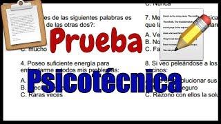 PRUEBA PSICOTÉCNICA - Ejercicios Resueltos