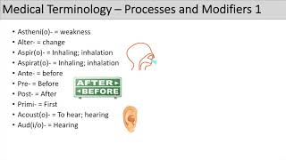 Medical Terminology - The Basics - Lesson 5