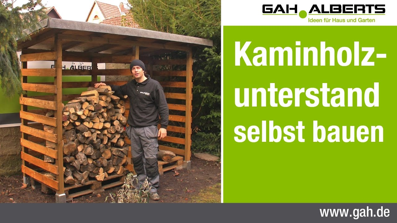 gah alberts workshop bau eines kaminholzunterstands. Black Bedroom Furniture Sets. Home Design Ideas