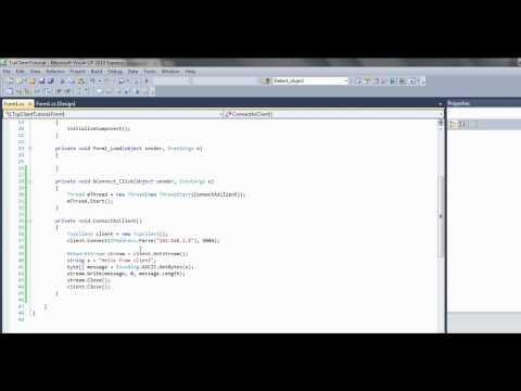 C# Tcp tutorial pt 2 - Client